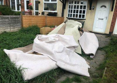 carpet cleared from garden birmingham before